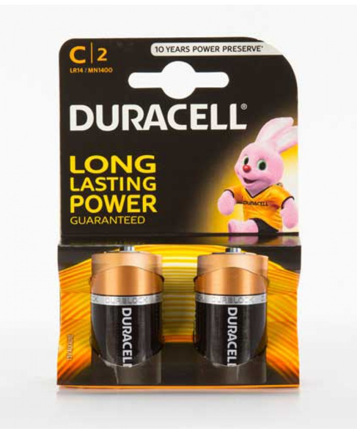 Duracell Batteries C 2 Pack
