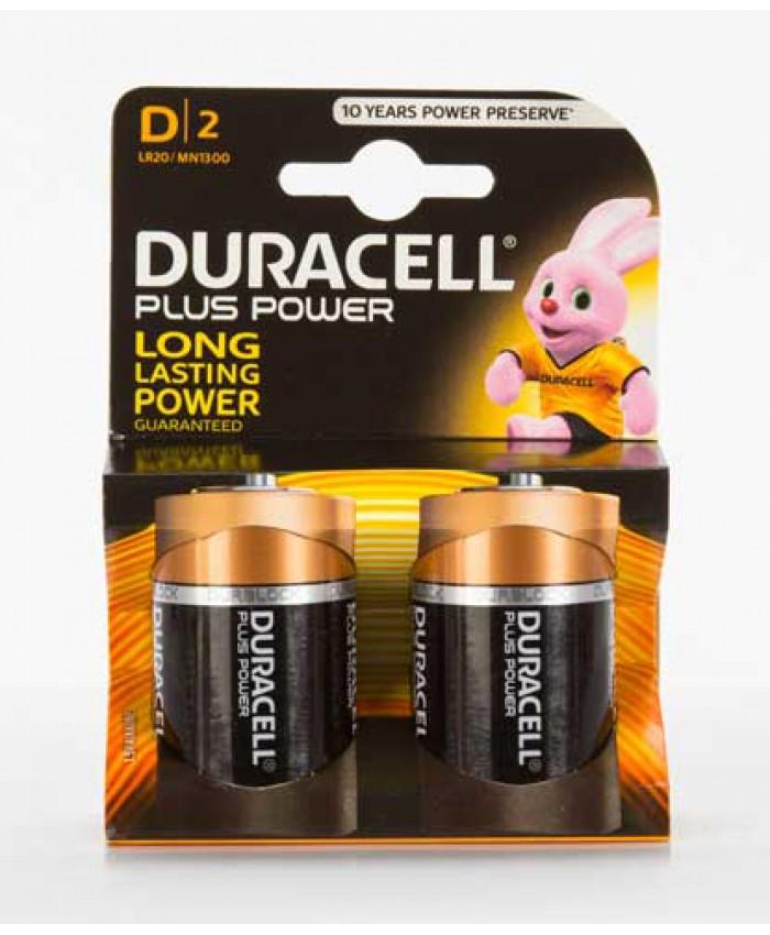 Duracell Batteries D 2 Pack