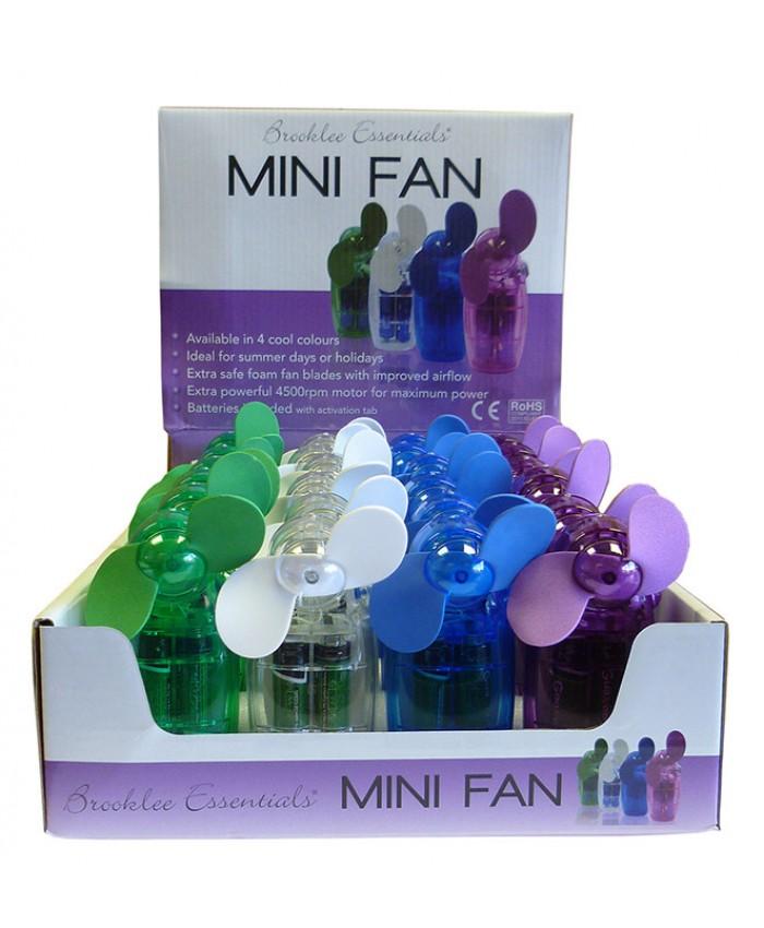 Hand Held Mini Fan includes batteries