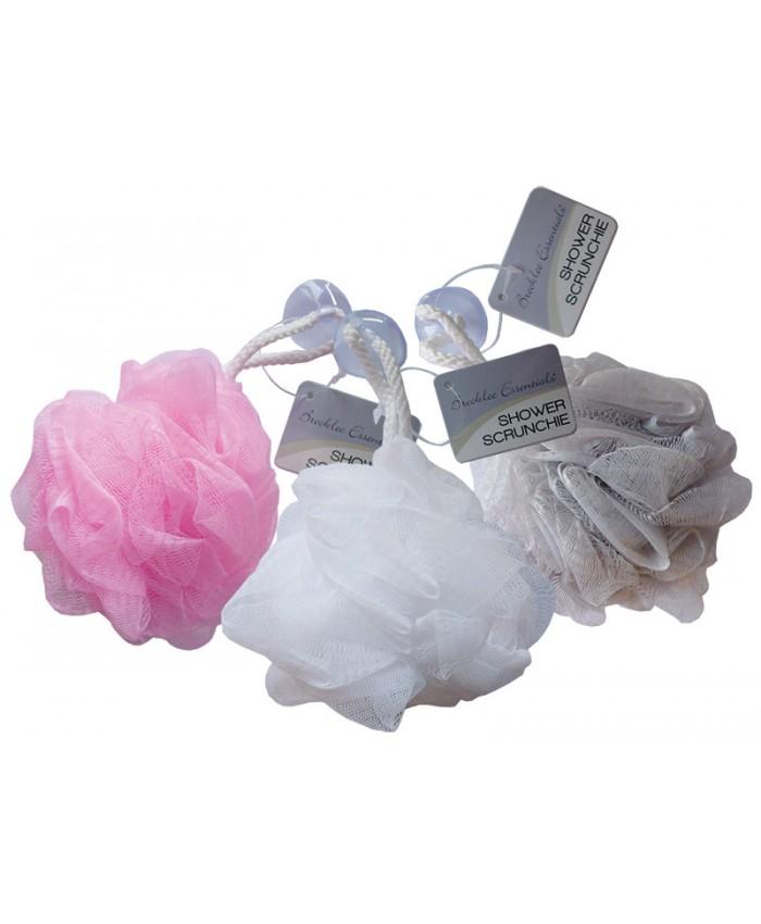 Shower Scrunchie with Sucker